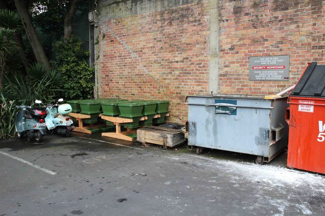 Hungry Bin Worm Farm - The hungry bin system easily fits into existing space allocated for waste management.