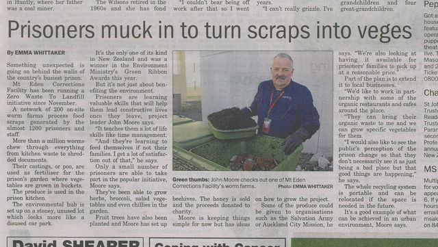 Hungry Bin Worm Farm - Central Leader, August 2014